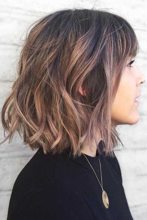10 Cute Short Haircuts with Subtle Balayage - Short Haircut Trends .