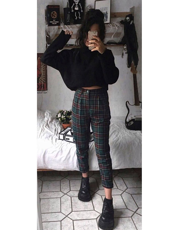 22 Vintage Outfits | Grunge outfits fall, Casual fall outfits .