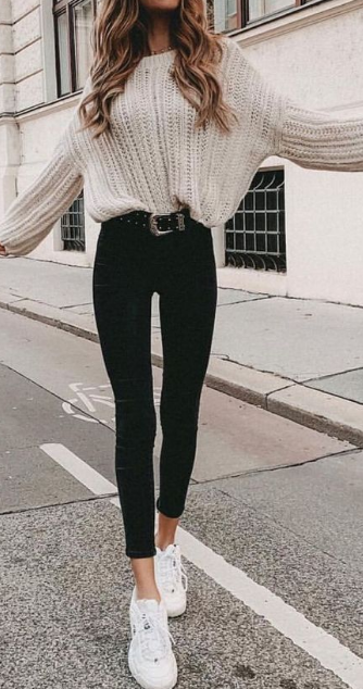 25 Cute Warm Outfits For Weekend on Fall | Winter fashion outfits .