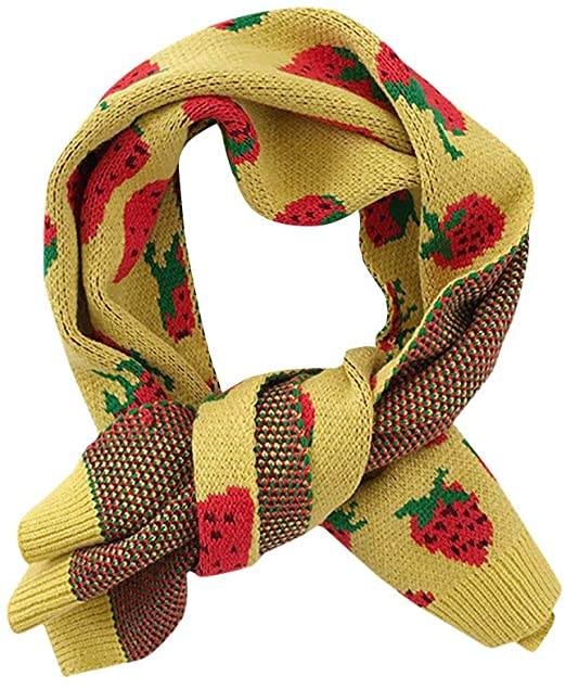 Amazon.com: Winter Scarf for Women Girls Sweet Cute Strawberry .