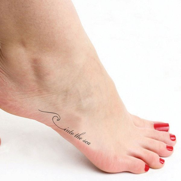 Into the Sea, #sea | Foot tattoos, Tiny tattoos, Dainty tatto