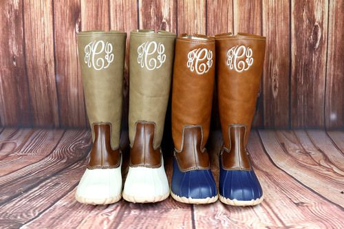 The beige/green pair! | Boots, Duck boots, Bootie boo