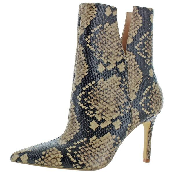 Shop Charles David Womens Dashing Mid-Calf Boots Leather Snake .
