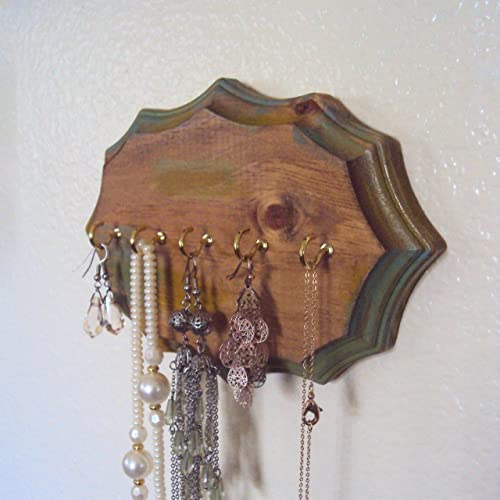Amazon.com: Bohemian Jewelry Display - Rustic Necklace Holder .