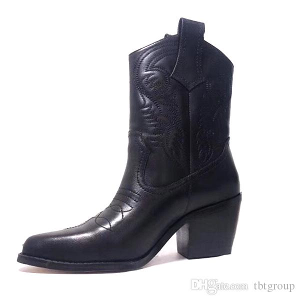 Designer Winter Boots Western Cowboy Ankle Boots 100% Genuine .