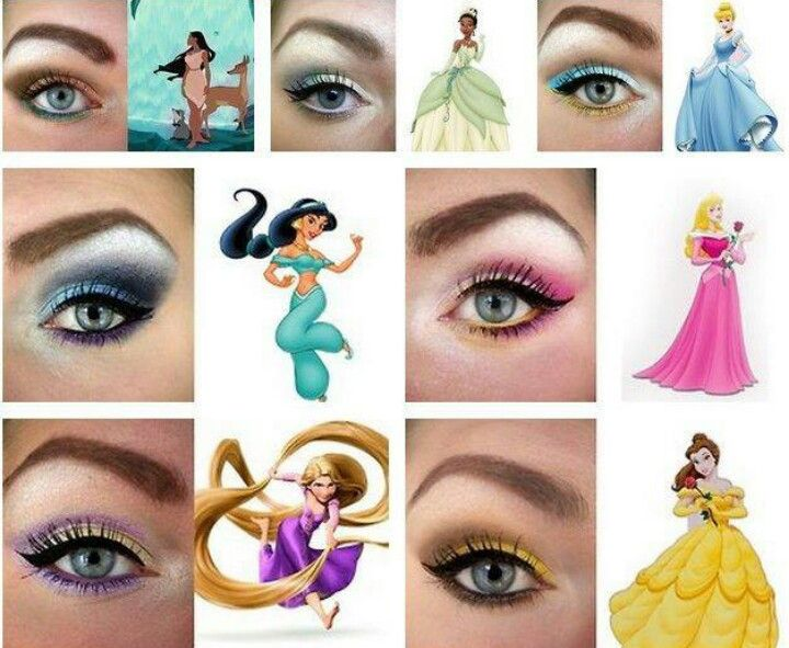Disney Princess Eyeshadow | Disney eye makeup, Disney princess .