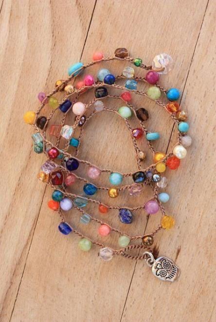 47+ New Ideas Diy Bracelets Boho Crochet Wraps | Boho bracelets .