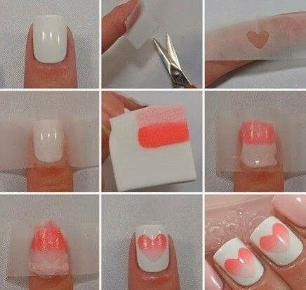 How to do ombre nail art at home step by step. DIY ombre nails .