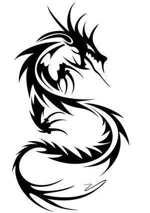 TATTOOS IDEAS: Tribal Dragon Tattoos - Cool Dragon Tattoo For Men .