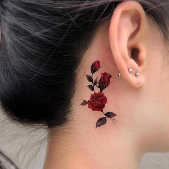 Top 30 Ear Tattoos for Men & Women| Stylish Ear Tattoo Designs 20