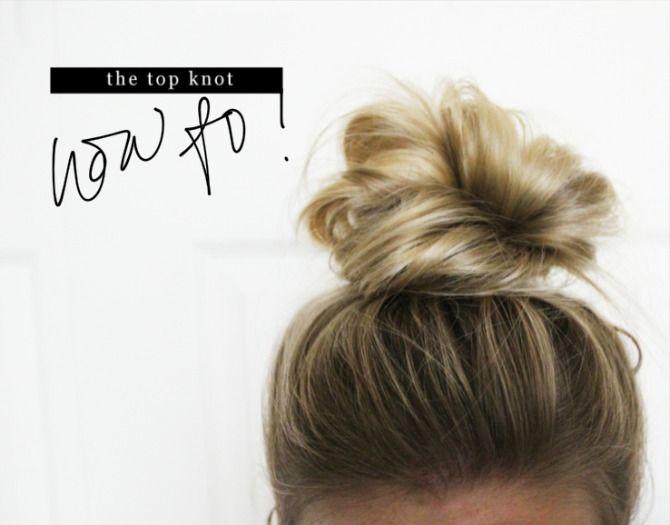 Aubrey Kinch | BLOG: How To: Top Knot | Medium hair styles, Up dos .
