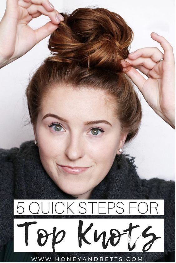 5 Steps To The Perfect Top Knot   Bun hairstyles for long hair .