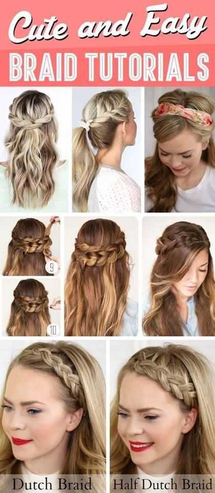 5 Quick and Easy Braided Hairstyles | Braids tutorial easy, Easy .