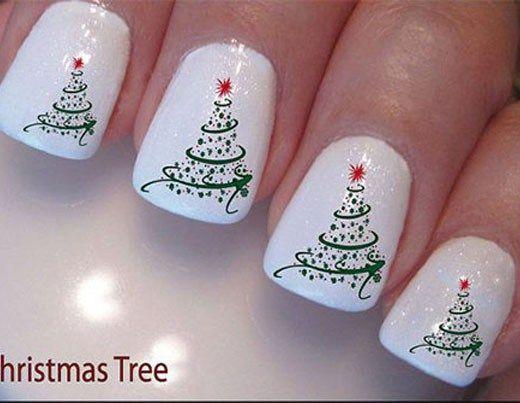 21 Fabulous and Easy Christmas Nail Designs: #20. Simple Christmas .