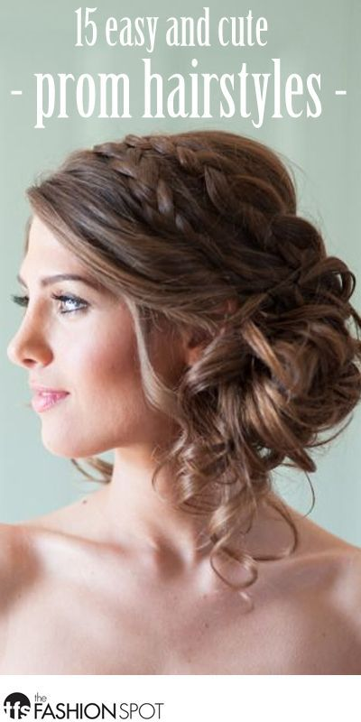 15 Pretty and Easy Prom Hairstyles - theFashionSpot | Simple prom .