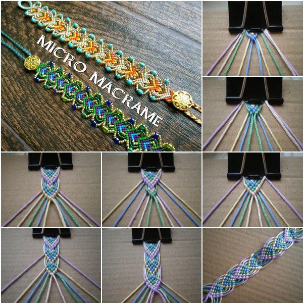 DIY Macrame Leaf Friendship Bracelets (Video) (Video) | Macrame .