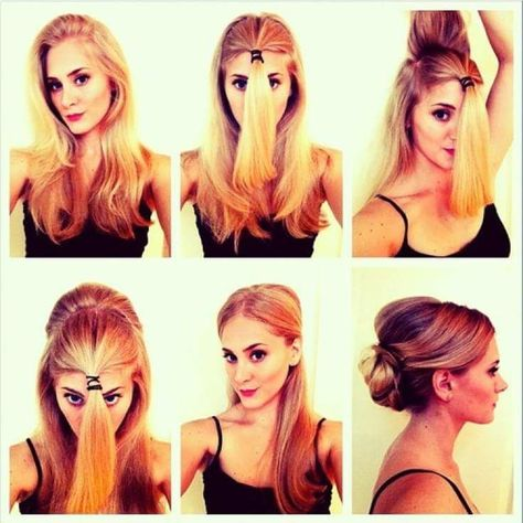 55 Easy Updos to Look Effortlessly Chic | Everyday hairstyles .