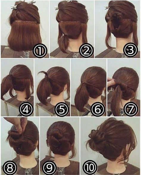 55 Easy Updos to Look Effortlessly Chic | Short hair makeup, Short .