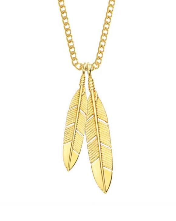 Feathers Necklace - Gold – Strange Wa