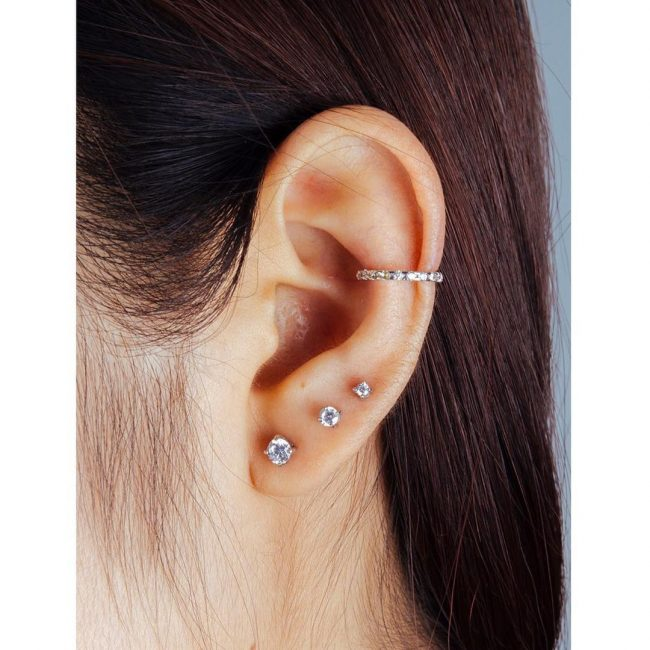 The Edgy Cartilage Piercing - 60 Best Ideas & Rules[201