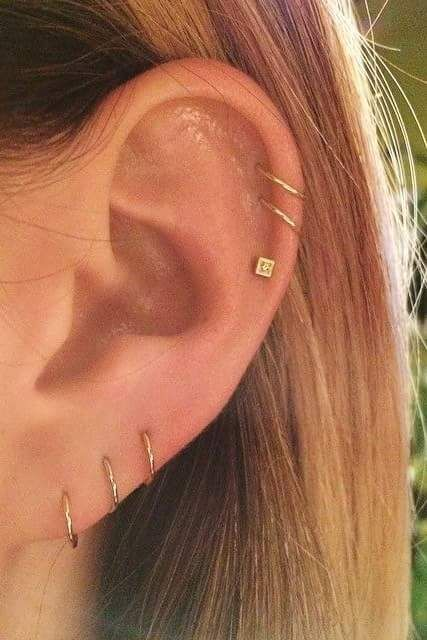 55+ Edgy Helix Piercing Styles that Can Arrest Attention Promptly .