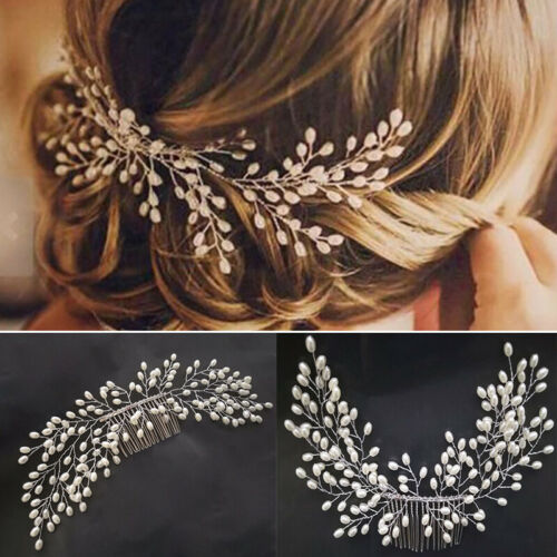 Fashion Wedding Art Deco Pearl Bride Hair Comb Bridal Hair .