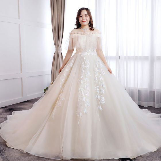 Classic Elegant White Ball Gown Plus Size Wedding Dresses 2019 .