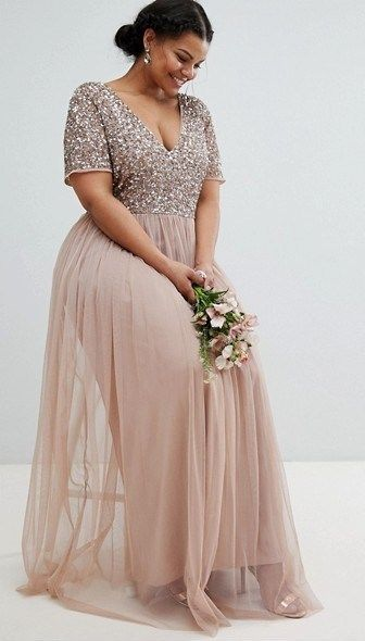 45 Plus Size Wedding Guest Dresses {with Sleeves} - Alexa Webb .