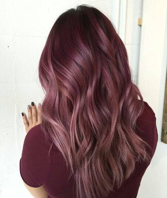 hair dye ideas colorful, red hair color | Maroon hair, Maroon hair .