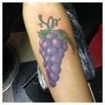 Exotic Grape Tattoo Ideas