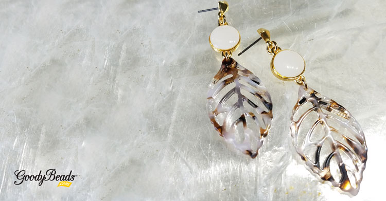Fall-Inspired Acetate Leaf Earrings