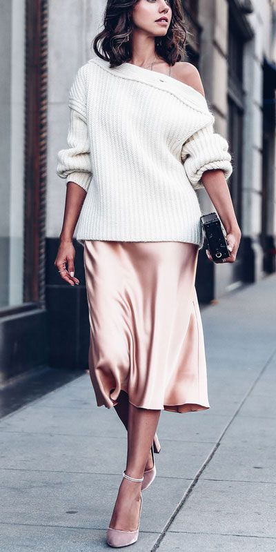 Fashionable ideas for silk skirt outfit, Slip dress | Holiday .