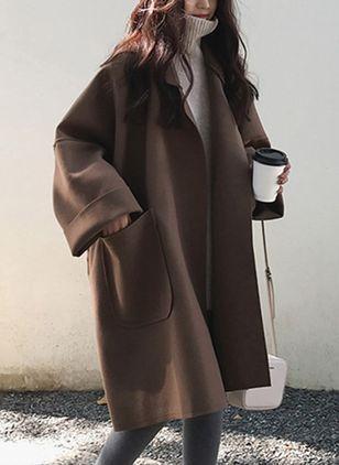 Long Sleeve Lapel Pockets Coats - Floryday @ floryday.com - #coats .