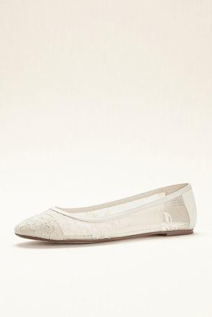 Melissa Sweet Lace Ballet Flat | David's Bridal | Lace ballet .