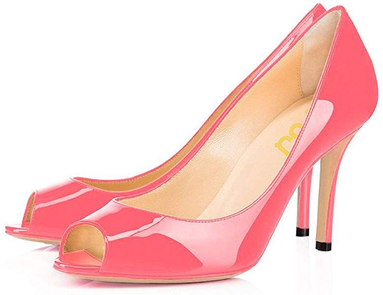 Amazon.com | FSJ Women Flattering Peep Toe Formal Dress Shoes .