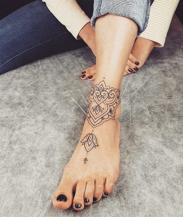 Gorgeous ankle bracelet tattoo ideas for women of all ages | Ankle .