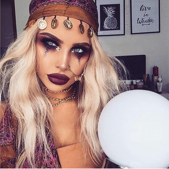 Bybrookell fortune teller Halloween makeup inspo | Halloween .