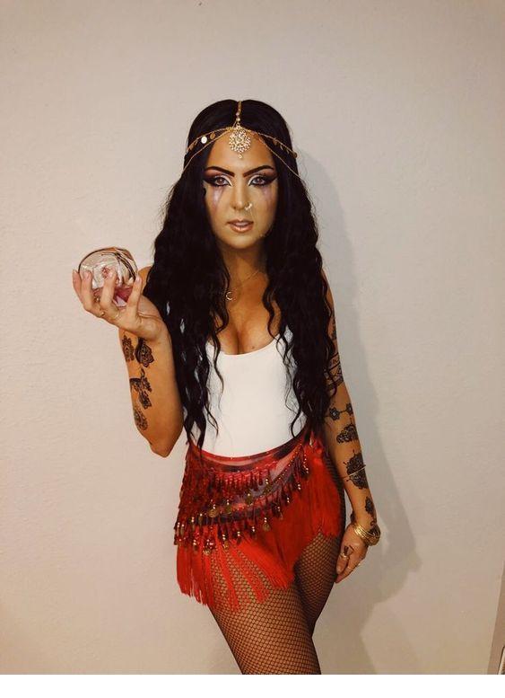 Fortune Teller Halloween Makeup Costume Women Ideas - Miladies.n