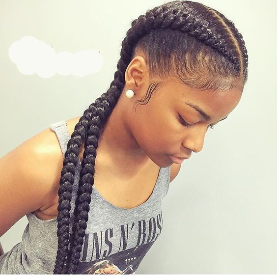Useful 19 Two French Braids Black Hairstyles | New Natural .
