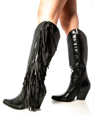 Wesley Fringe Boots- Bla