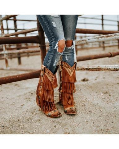 Women's Wind Walker Fringe Boots – Skip's Western Outfitte
