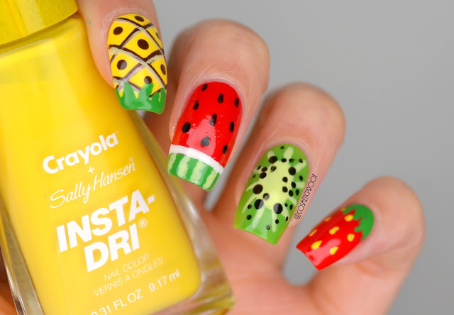 NAILS | Summer Fruit Nail Art #CBBxManiMonday | Cosmetic Proof .