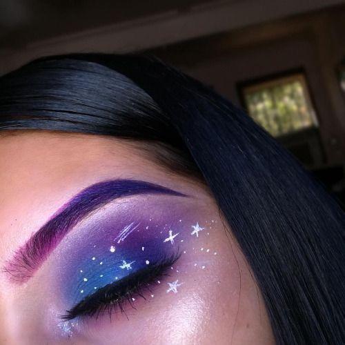 Pinterest: @DamagedDani ❄️✨ … | Galaxy makeup, Makeup looks .
