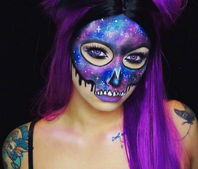 Galaxy Halloween Makeup Ideas | POPSUGAR Beau