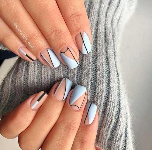 6.Geometric Nail Art - Nail Art Designs 20