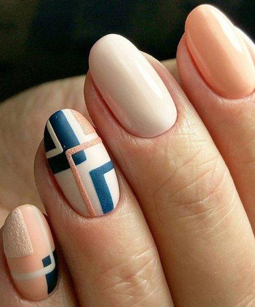 Incredible Geometric Nail Art Designs to Look Pretty | Manicura de .