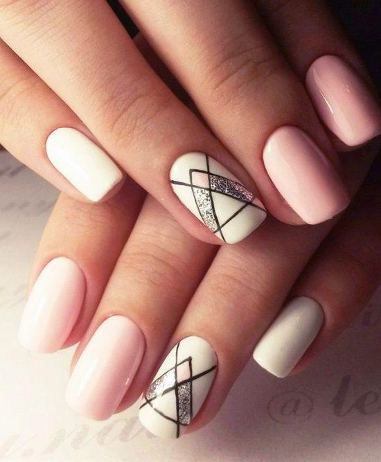 20 Shockingly Simple Geometric Nail Art Ideas You'll Love .
