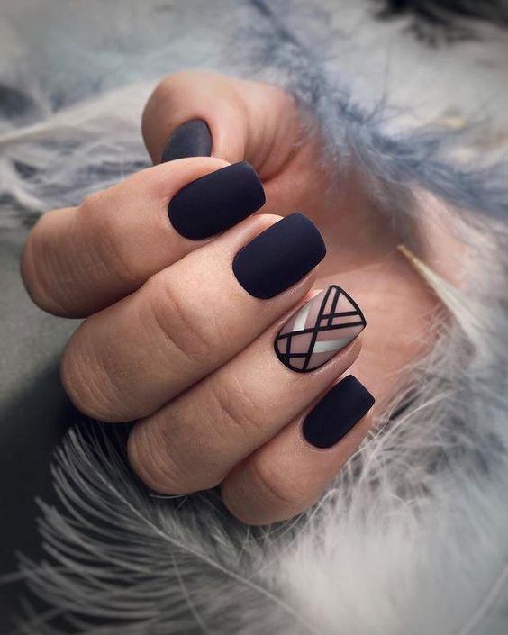 GEOMETRIC NAIL ART IDEAS | Matte nails design, Prom nail designs .