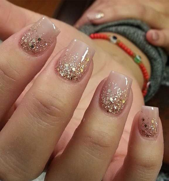 49 Best Glitter Nail Art Ideas For Glam Looks in 2020 | Nail .