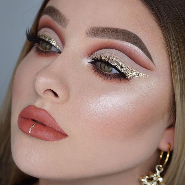 Midnight Luxe | Gold makeup, Eye makeup, Dramatic make